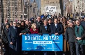 ניו יורק במחאה נגד האנטישמיות והשנאה \ בן אלידע