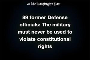 גנרלים בדימוס מודאגים מהדרך שבה הנשיא משתמש בצבא האמריקאי