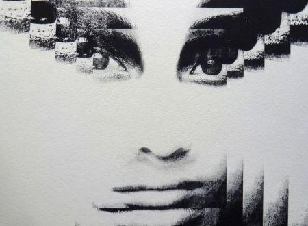 Folienlithografie Gesicht im MABEBU Art Diary Künstlerbuch