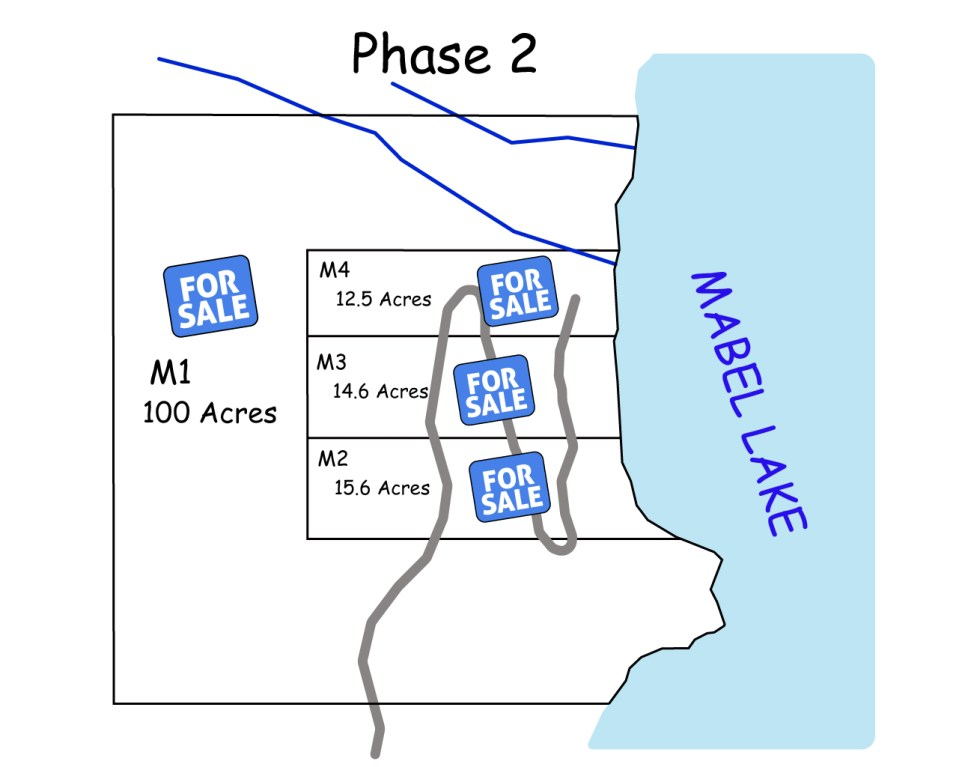 Mabel Lake Lots for Sale Map Phase 2
