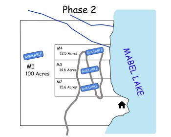 Mabel Lake Lots Available Map Phase 2