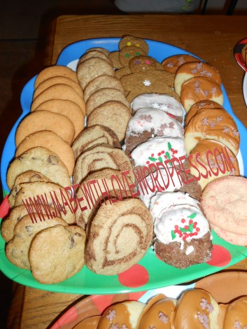 $1 Cookie Tray filled with yummy delights. And it's a beautiful Tray!
