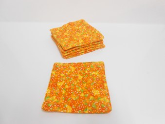 Orange Flowers Coasters