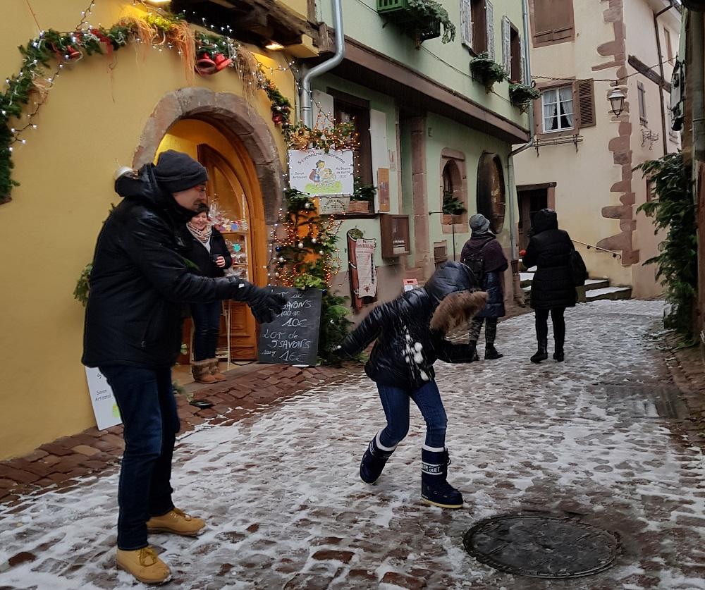 Riquewhir Bataille de boule de neige