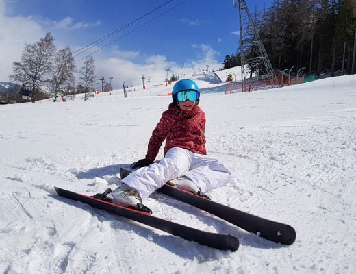 Deuxième étoile au ski à La Norma