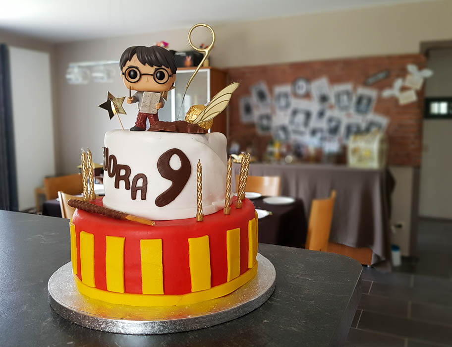 Le gâteau Harry Potter - Sa fête d'anniversaire Harry Potter