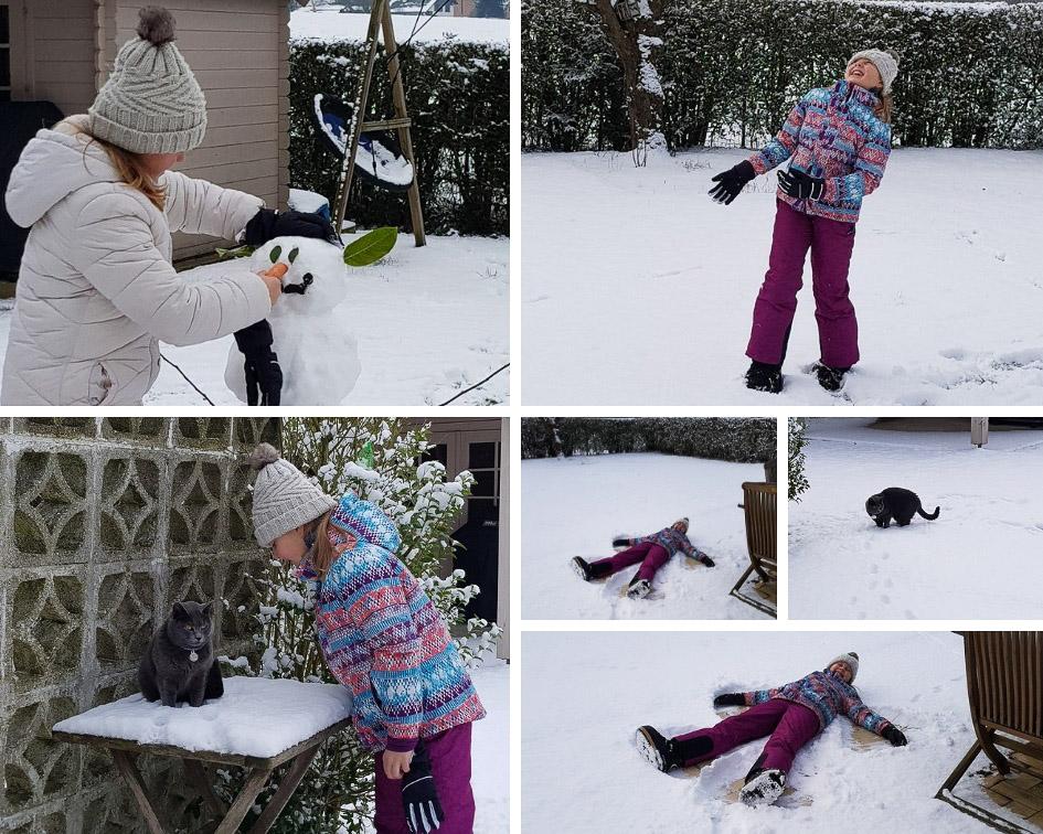 Profiter de la neige et de l'instant présent