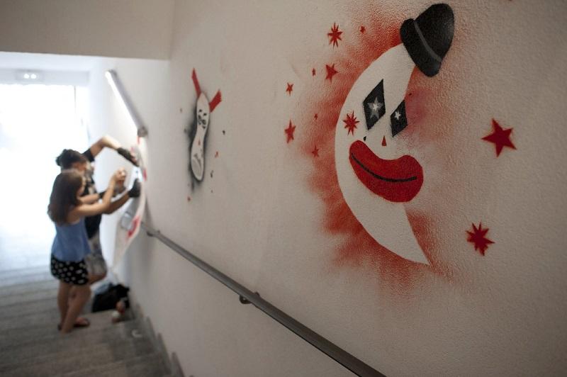 Festival Au Bonheur des Mômes, street art clown