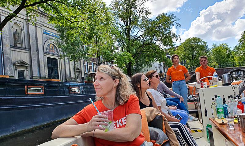 balade en bateau sur les canaux d'Amsterdam