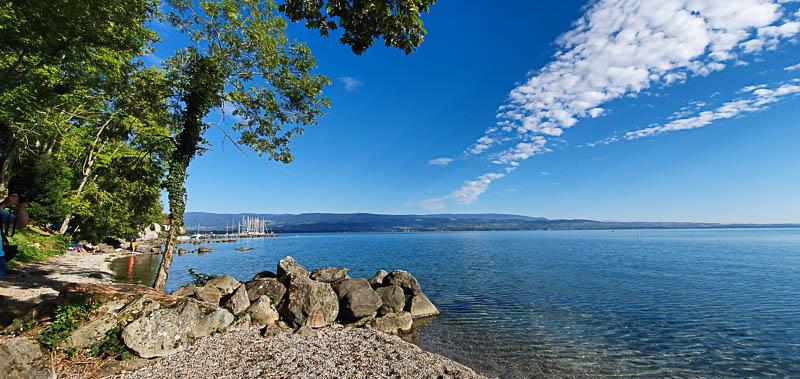 Le lac Léman, immense et maritime