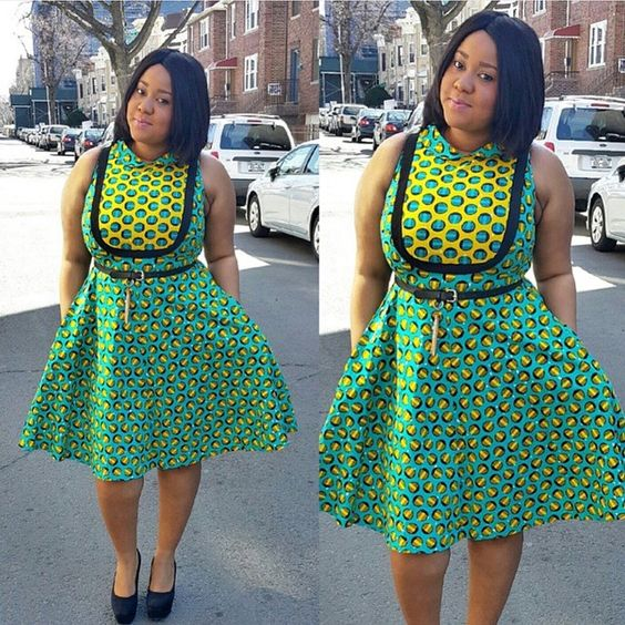 Lovely Ankara Style Short Gown for Ladies
