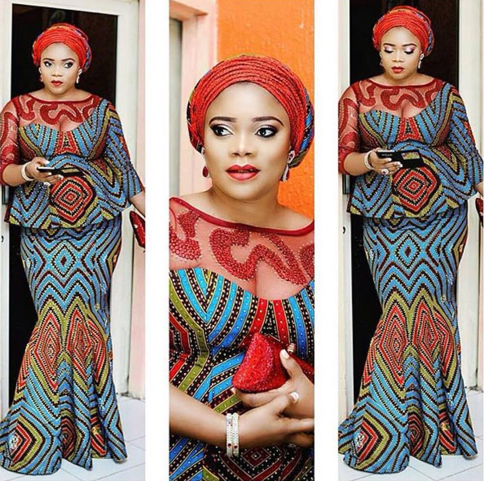 Image result for hijab and aso ebi styles