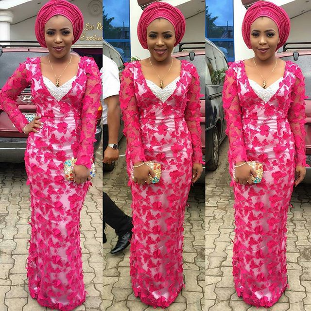 aso ebi lace gown styles 2017 3