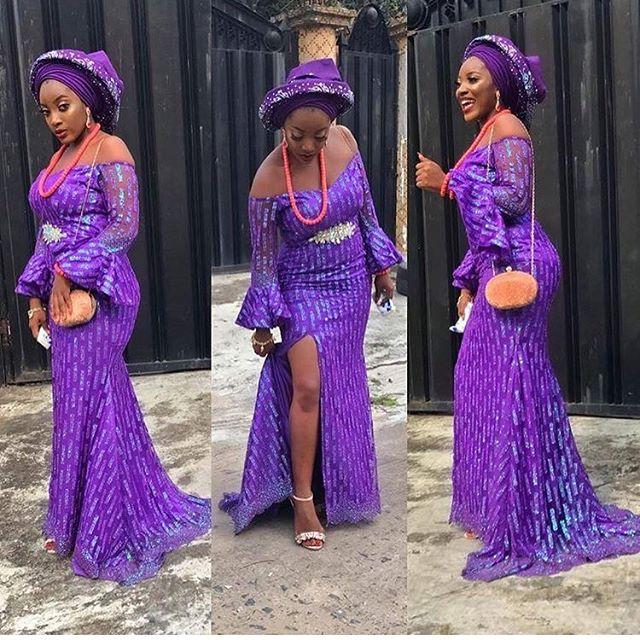 aso ebi lace gown styles 2017 4