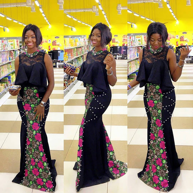 Dazzling Ankara Gowns : Ankara Gown Styles For You