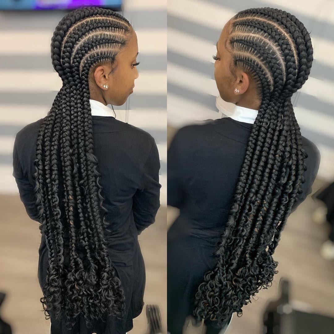 cornrows braided hairstyles 2019 (9) | Latest Ankara ...