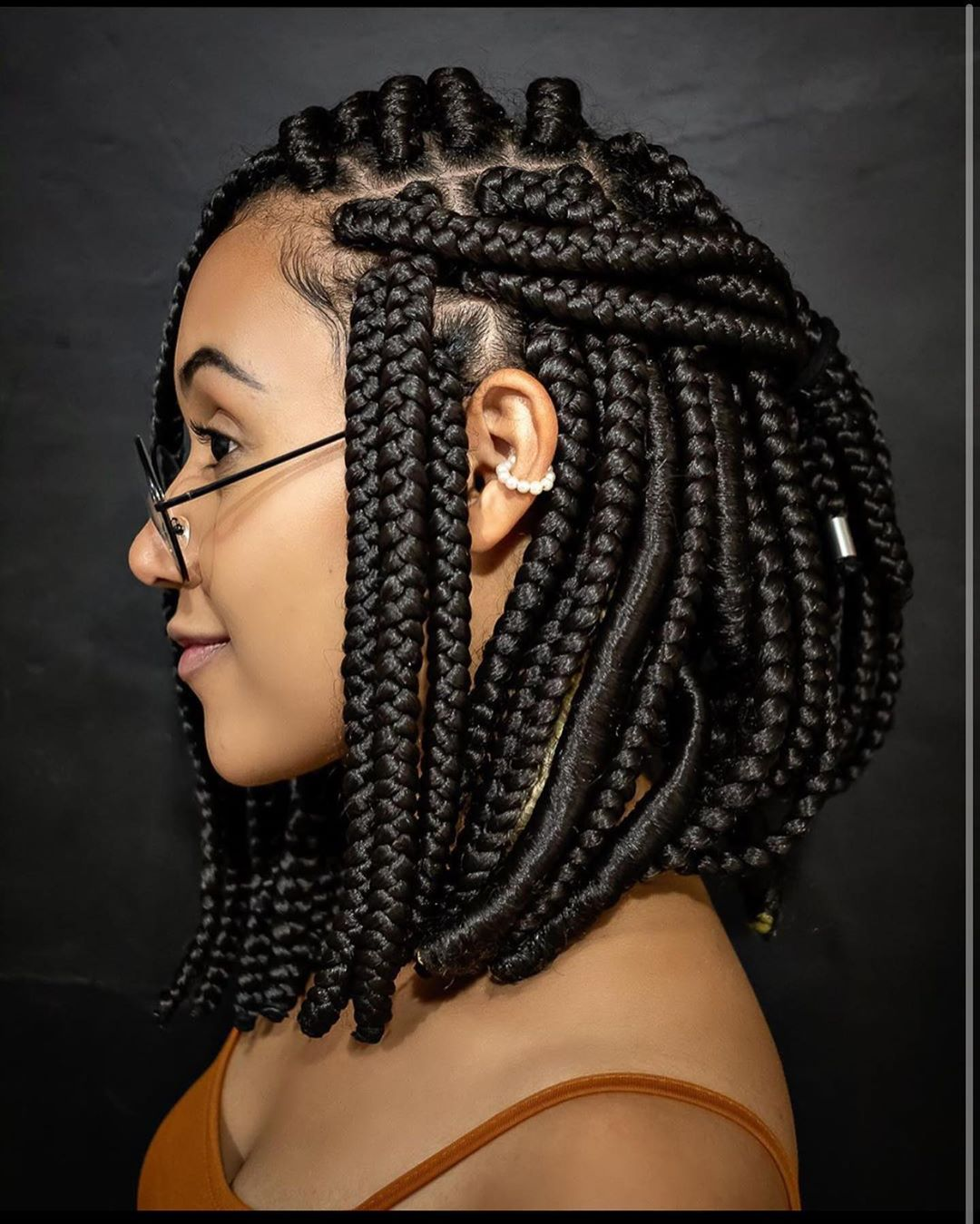 Braid Styles With Weave Trending Pictures Of Braided Hairstyles With Weavelatest Ankara Styles 2020 And Information Guide
