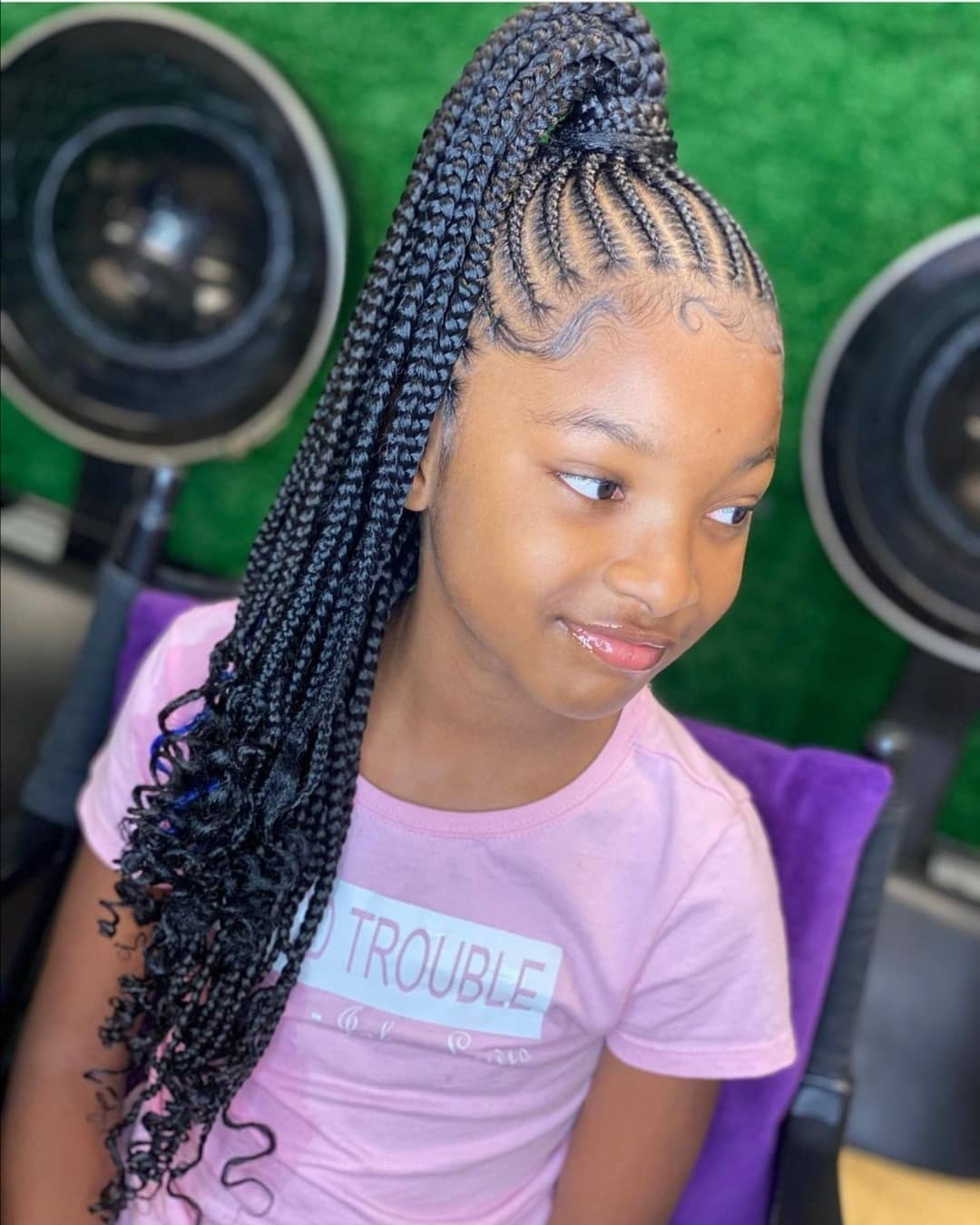 Latest Black Braided Hairstyles For Kids 2021