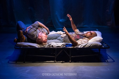 Photo of James Konicek and Maboud Ebrahimzadeh in The Pillowman.
