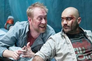 Photo of James Konicek and Maboud Ebrahimzadeh in The Pillowman.
