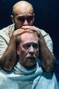 Photo of Maboud Ebrahimzadeh and James Konicek in The Pillowman.