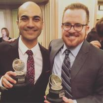 Maboud Ebrahimzadeh, Outstanding Leading Actor in a Play, and Matt Pfeiffer, Outstanding Direction of a Play