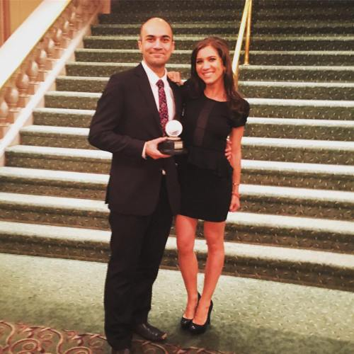 Maboud Ebrahimzadeh and Kimberly Dickstein at the 2016 Barrymore Awards