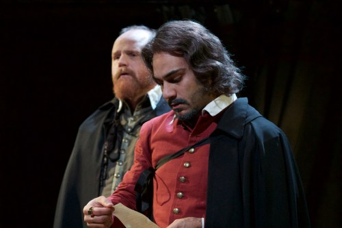 Todd Scofield and Maboud Ebrahimzadeh as John Heminges and Henry Condell in The Book of Will