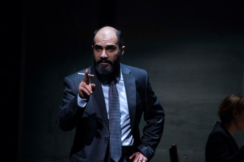 Maboud Ebrahimzadeh as PLO Finance Minister Ahmed Qurei in OSLO