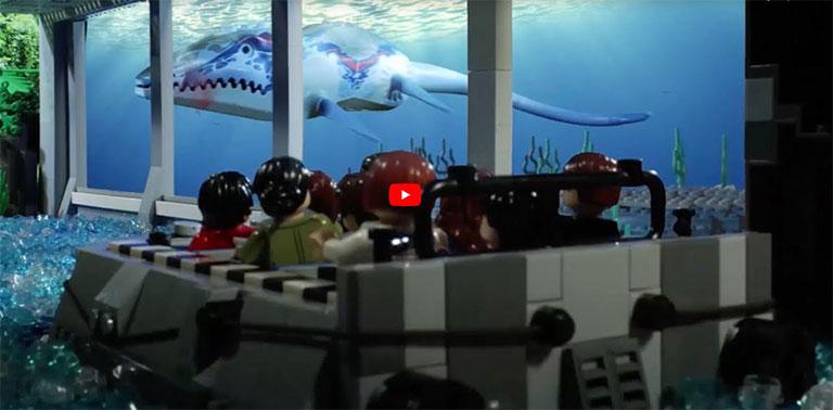 Read more about the article Un brickfilm LEGO ® sur l'attraction Jurassic World