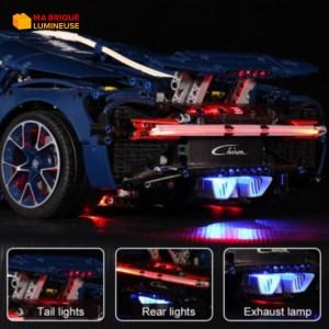 Kit led à câbler pour Bugatti Chiron LEGO® Technic 42083 avec télécommande
