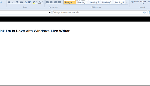 I think I'm in Love with Windows Live Writer