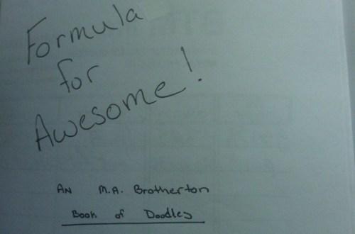#DoodleBook – Formula for Awesomeness