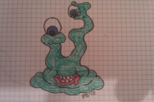 #DailyDoodle: I got some new Sharpie Pens, and You get a Little Green Monster