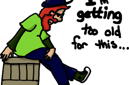 Daily Doodle –  Too Old for Long Days