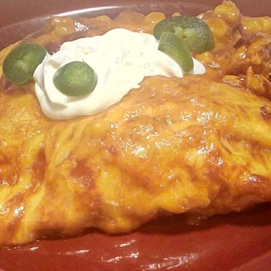 Adobo Chicken Enchiladas
