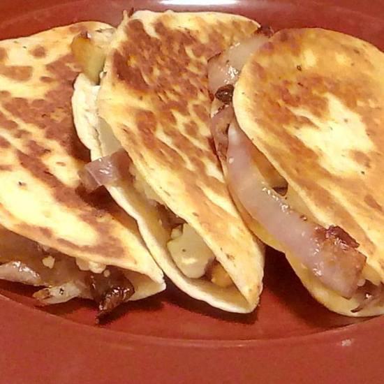 Greek Zucchini Quesadillas