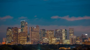 Downtown Houston Blue Hour II - Architectural Photographer - Houston - Mabry Campbell