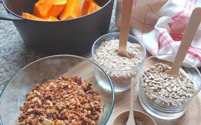 Granola salé au sarrasin et miso