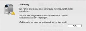 Postbox SSL-Fehler