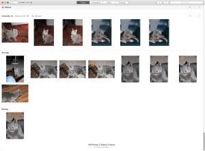 Fotos Startscreen nach dem öffnen.