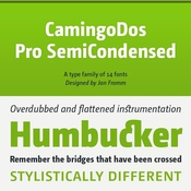 CamingoDos_Pro_SemiCondensed_Font_Family_icon