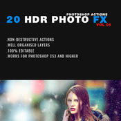 20 hdr photo fx photoshop action 11564440 icon