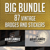 87 vintage labels and badges logos bundle vol 1 12737546 icon