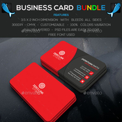 Corporate business card bundle awesome color 13108479 icon