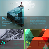 Adobe photoshop cc 2015 5 17 0 0 muse cc 2015 2 and audition cc 2015 2 logo icon icon