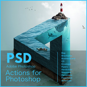 Psd actions for adobe photoshop logo icon