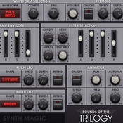 Synth magic sounds of the trilogy icon