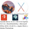 Macos sierra 10 12 os x el capitan 10 11 6 bootdiskutility microsoft office 2016 15 28 vl apple iwork adobe photoshop icon