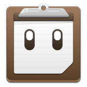 Pastebot clipboard manager with custom clippings icon
